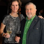 The president of the Véronic DiCaire Foundation, Rhéal Leroux, and his spouse Rachel Gauthier attended the gala.